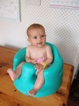 Sittin' in my Bumbo @ 3.75 months