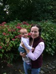 In the gardens @ Holyrood Palace w/ Mum @ 4.5 months