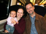 On the train w/ Mummy & Daddy
