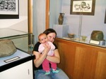 Me & Mummy in The Museum of Antiquities @ 4.5 months