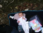 Picnicking on Lake Ullswater @ 5 months