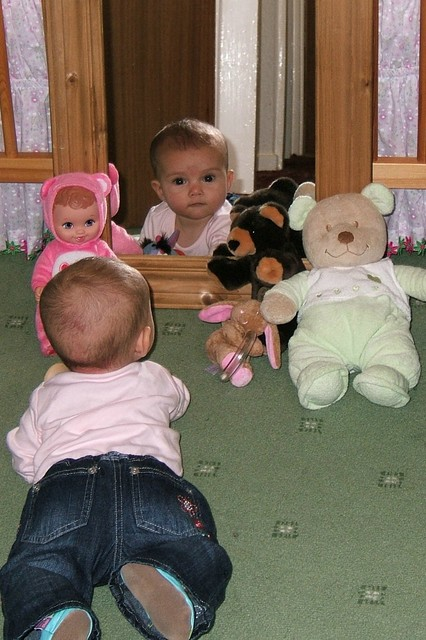 Playing with my friends @ 5 months
