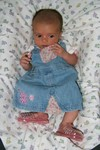 Wearing my pink jellies @ 1.75 months