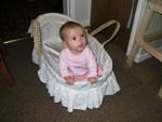 Sitting in my basket @ 5 months