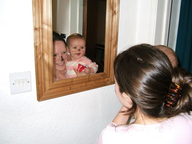 Me & Mum as Halloween Kitties @ 5.5 months